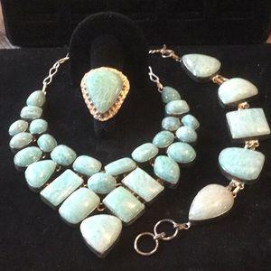 💥 AMAZING 💥RARE 3 Piece Genuine Gemstone Set